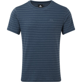 Mountain Equipment Groundup Maglia a maniche corte Uomo, denim blue stripe